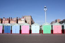 Free Row Of Beach Huts (Brighton , UK) Royalty Free Stock Photography - 8438267