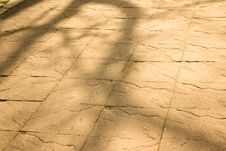 Free Dappled Light On Stone Texture Of Path Stock Photography - 8438462