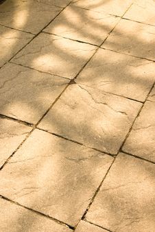 Free Dappled Light On Stone Texture Of Path Stock Photo - 8438490