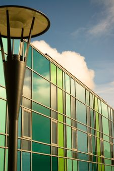 Free Brightly Coloured Modern Building And Streetlamp Stock Photo - 8438520