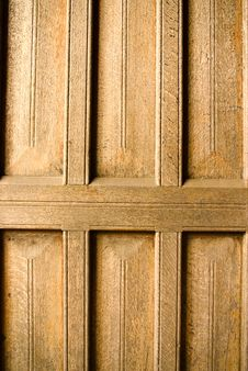 Free Ancient Wooden Door Panel Royalty Free Stock Image - 8438546