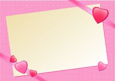 Free Pink Background With Hearts Stock Photography - 8438622