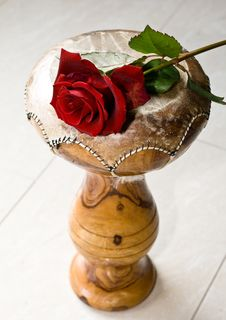 Red Rose On Indian Drums Royalty Free Stock Photos
