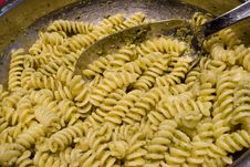 Pasta Al Pesto - Basil Sauce Royalty Free Stock Photography