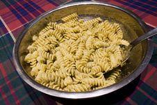 Free Pasta Al Pesto - Basil Sauce Stock Image - 8438811