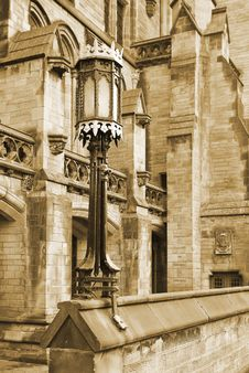 Free Gothic Lamp And Building Stock Photography - 8439552