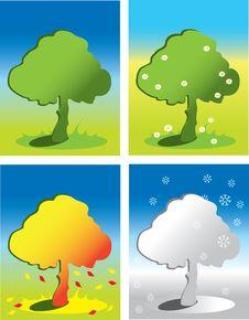 Free Seasons Icons Royalty Free Stock Image - 8439856