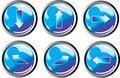 Free Blue Arrow Buttons Stock Photos - 8446073