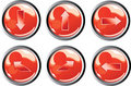 Free Red Arrow Buttons Royalty Free Stock Images - 8446609