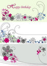 Free Vector Design With Flowers Stock Photo - 8449520
