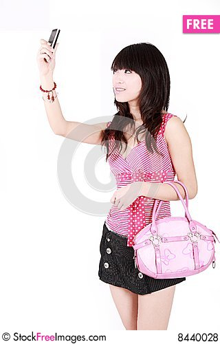 Free A Beautiful Asian Girl Royalty Free Stock Photos - 8440028