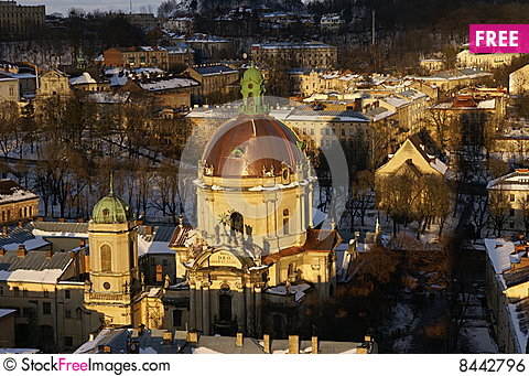 Church in Lvov Stock Photo