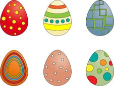 Free Set Of Easter Eggs Royalty Free Stock Photo - 8440065