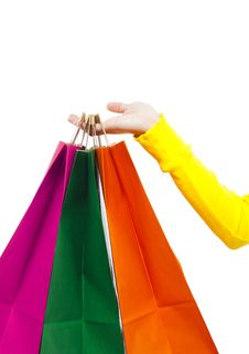 Free Shopping Bags Royalty Free Stock Photography - 8440357