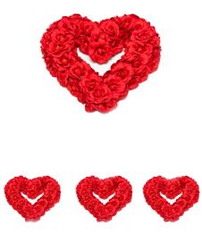 Free Heart Shaped Red Roses Royalty Free Stock Photo - 8440735