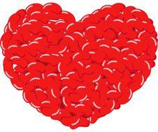 Free Jelly Bean Heart Stock Image - 8440941