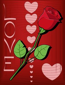 Free Hearts And Rose Background Stock Image - 8440991