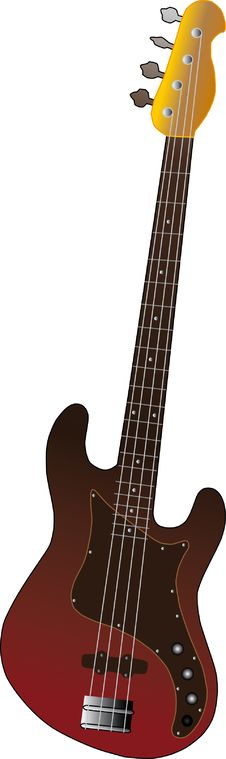 Free Vector Illustration Of Bass Guitar Stock Photos - 8441083