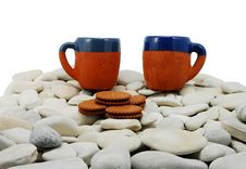 Free Isolated Picture Mugs On Rocks Stock Images - 8441104