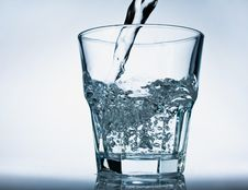 Free Glass Of Pouring Water Royalty Free Stock Image - 8441296