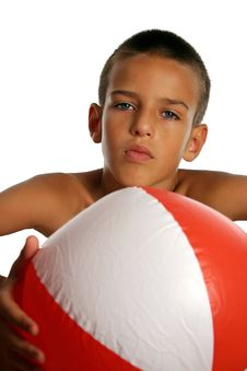 Free Boy With Beach Ball Royalty Free Stock Images - 8441549
