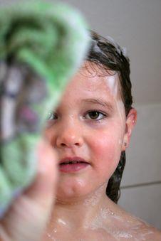 Free Bathing Child Royalty Free Stock Photo - 8442285