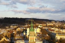 Free Lvov In The Winter Royalty Free Stock Image - 8442856