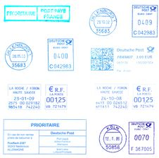 Free Blue Postmarks Stock Photos - 8442993