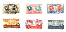 Free Italian Stamps In Lire Background Stock Image - 8443111