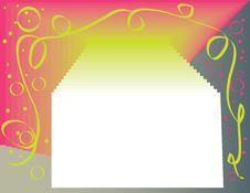 Green Ribbon Presentation Royalty Free Stock Image