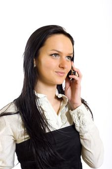 Free Attractive Business Woman Talking On Mobile Phone Royalty Free Stock Photo - 8443385
