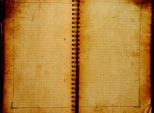 Free Old Notebook Royalty Free Stock Photo - 8443405