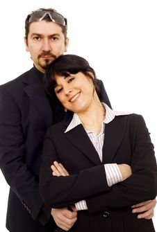 Serious Business Couple Royalty Free Stock Image