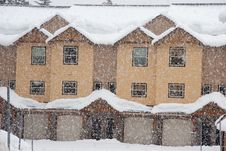 Free Townhouses In Snow Royalty Free Stock Photo - 8443645