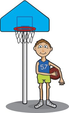 Free Basketball Player Royalty Free Stock Photography - 8443657