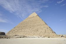 Free The Great Pyramid Of Menkaure At Giza Stock Photography - 8443662