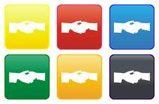 Free Hand Web Button Stock Photos - 8443793