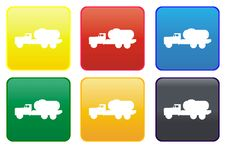 Free Tanker Truck Web Button Stock Photo - 8443800