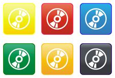 Free Compact Disc Web Button Royalty Free Stock Photography - 8444077