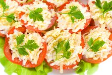 Free Close-up Stuffed Tomatoes Royalty Free Stock Image - 8444306