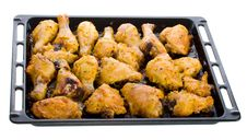 Free Fried Chicken Meat On Baking Sheet Stock Photo - 8444310