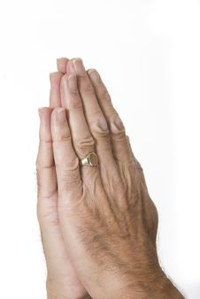 Free Hands Together In Prayer Royalty Free Stock Image - 8444436