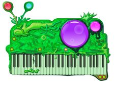 Free Alien Music Synthesizer Royalty Free Stock Image - 8444636
