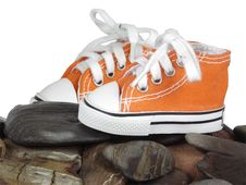 Free Sneakers And Stone Royalty Free Stock Image - 8444956