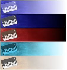 Free Grunge Keyboards Headers Or Banners Royalty Free Stock Photo - 8445135
