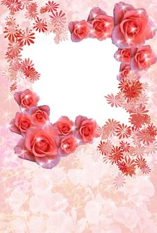 Free Rose Frame Stock Photography - 8445562