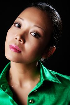 Free Woman In Green Shirt Royalty Free Stock Image - 8445896
