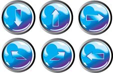 Free Blue Arrow Buttons Stock Photos - 8446073