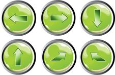 Free Green Arrow Buttons Royalty Free Stock Photo - 8446405