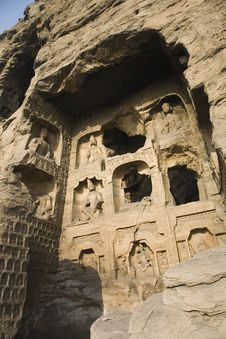 Free Yungang Caves Royalty Free Stock Photos - 8446758